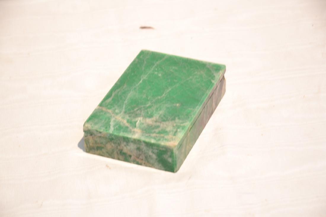 ANTIQUE MALACHITE & ONYX BOX - 5