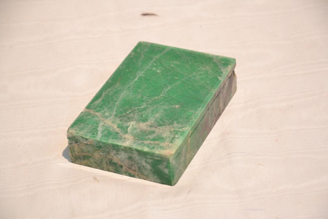 ANTIQUE MALACHITE & ONYX BOX - 6