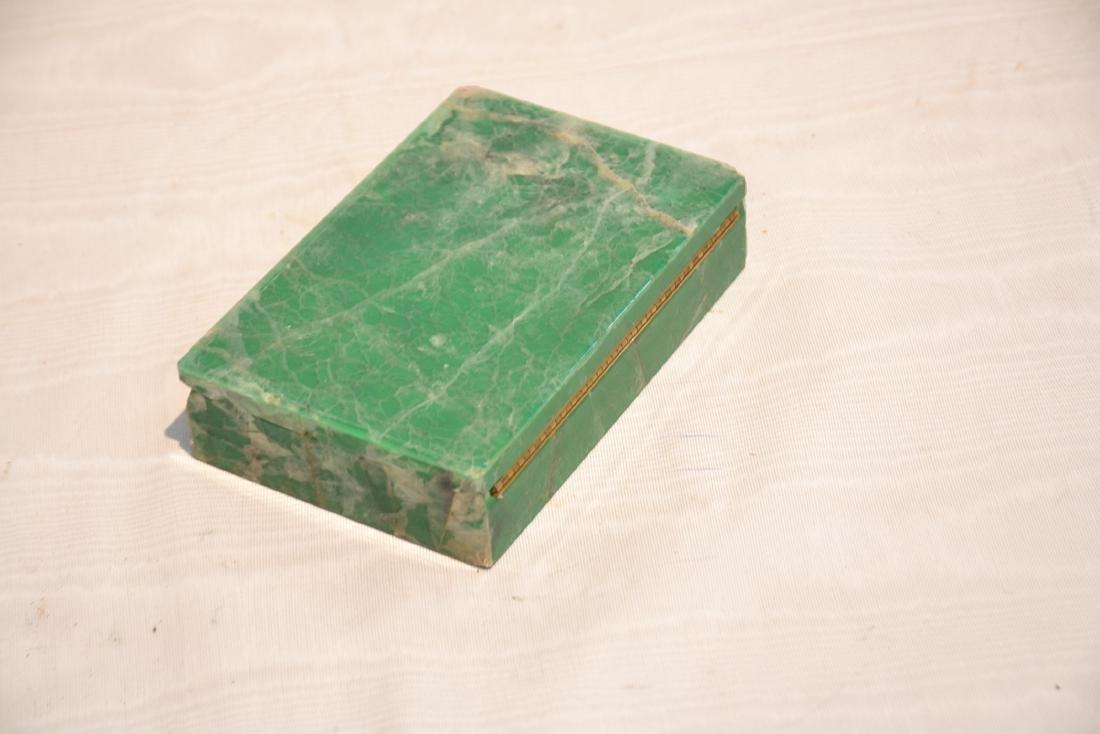 ANTIQUE MALACHITE & ONYX BOX - 7