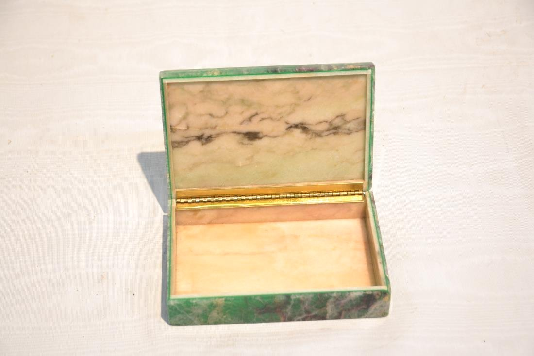 ANTIQUE MALACHITE & ONYX BOX - 8