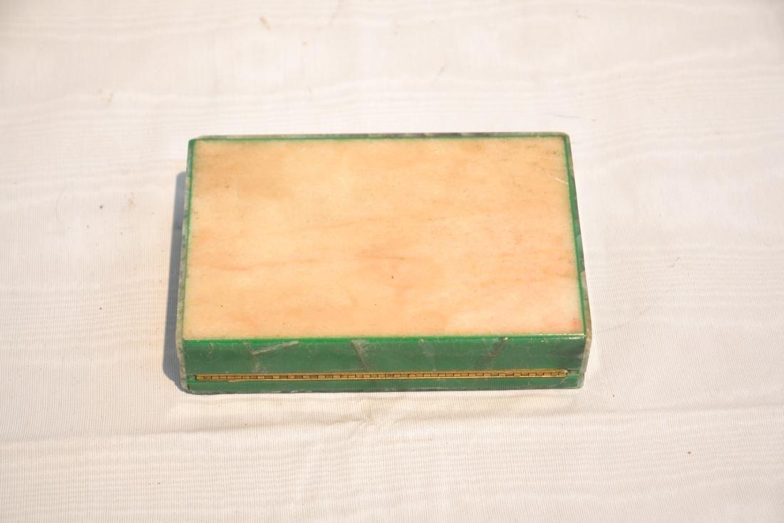 ANTIQUE MALACHITE & ONYX BOX - 9