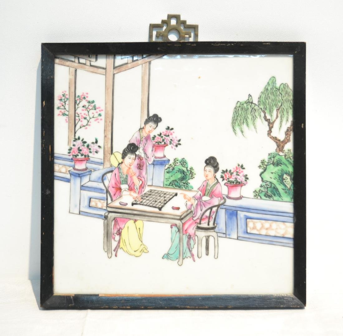 HAND PAINTED CHINESE PORCELAIN PLAQUE