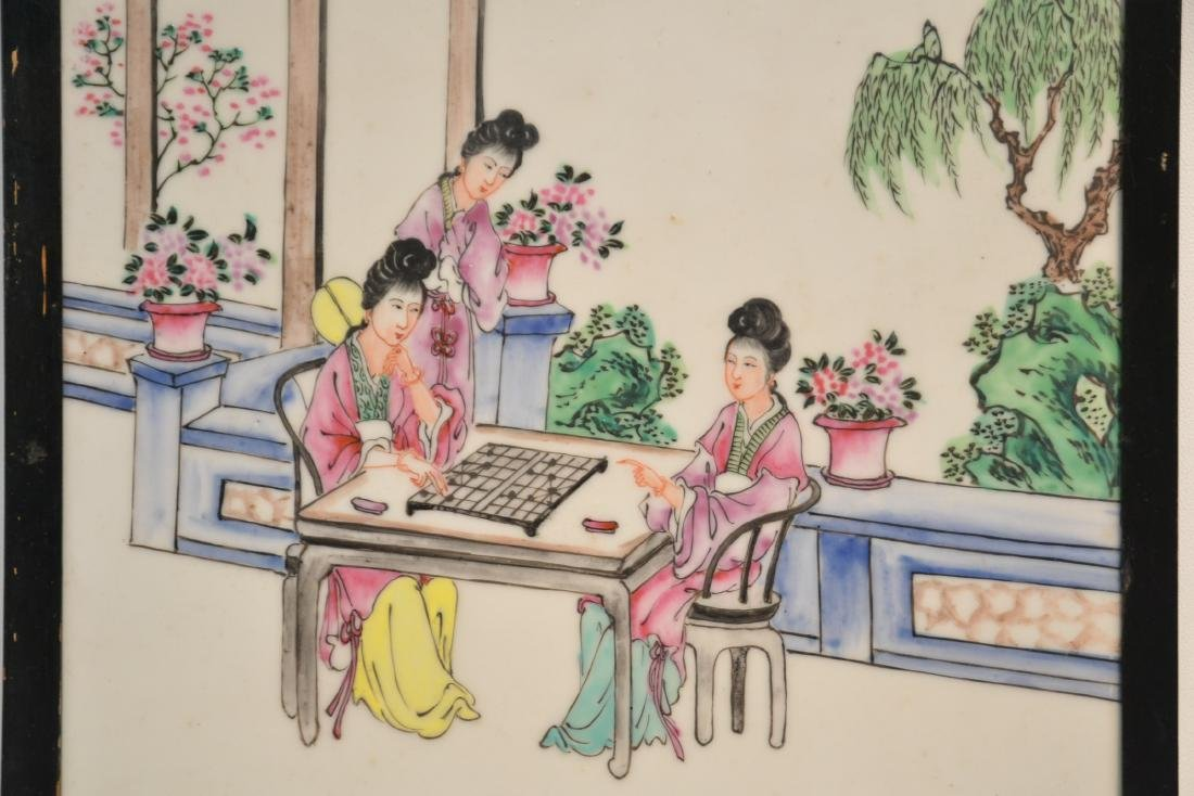HAND PAINTED CHINESE PORCELAIN PLAQUE - 2