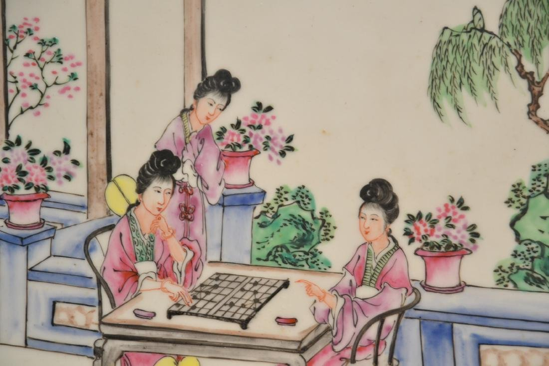 HAND PAINTED CHINESE PORCELAIN PLAQUE - 3