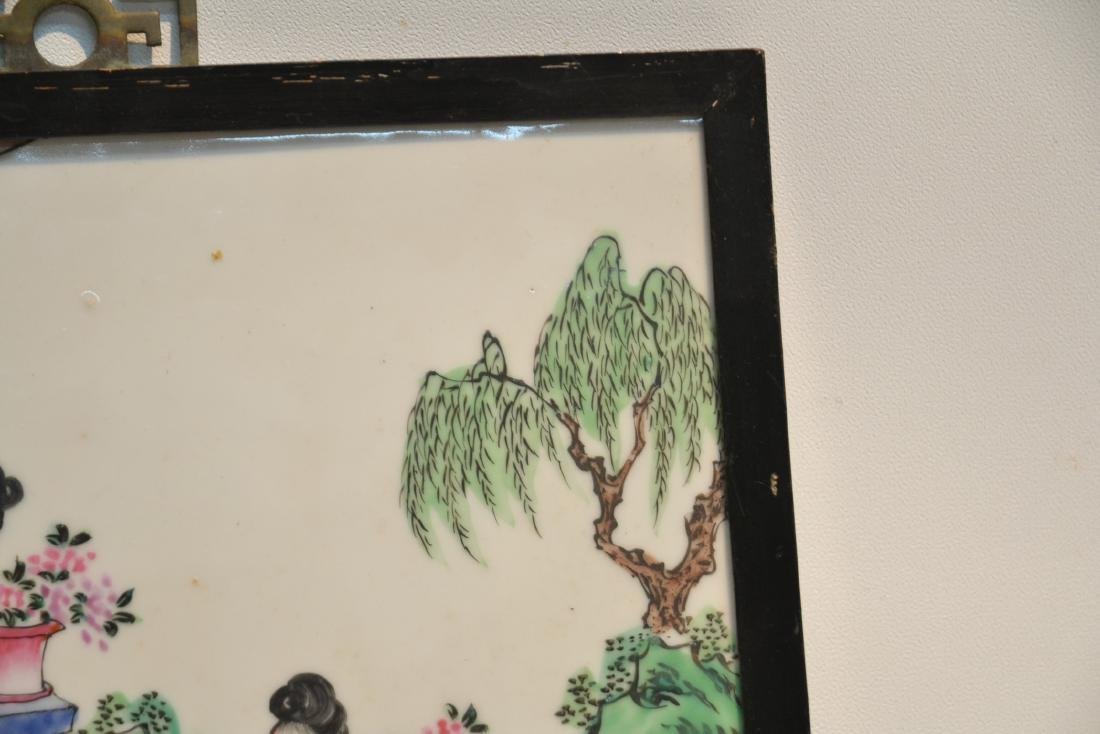 HAND PAINTED CHINESE PORCELAIN PLAQUE - 4