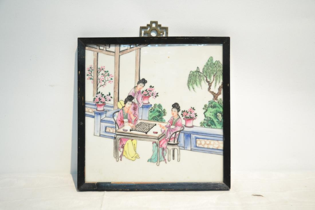 HAND PAINTED CHINESE PORCELAIN PLAQUE - 7
