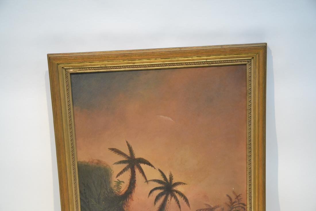 OIL ON CANVAS CARIBBEAN LANDSCAPE - 3