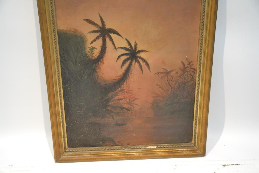 OIL ON CANVAS CARIBBEAN LANDSCAPE - 4