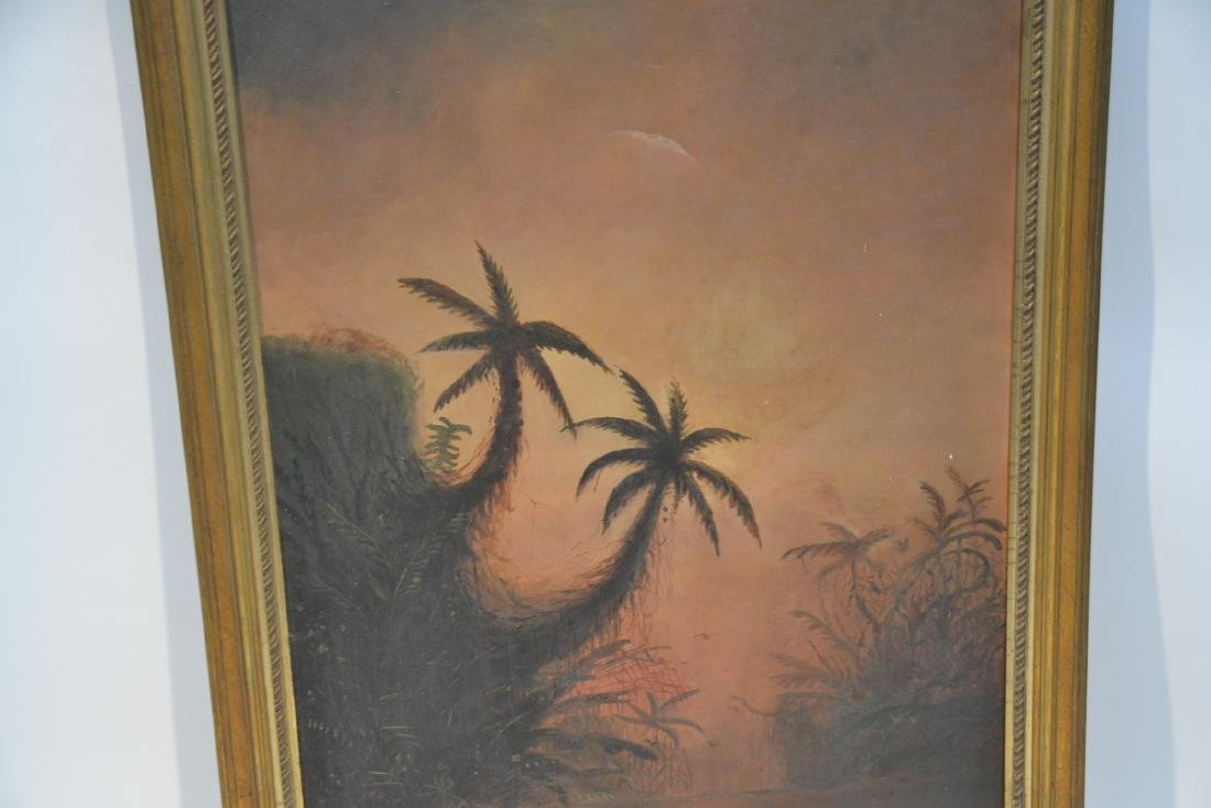 OIL ON CANVAS CARIBBEAN LANDSCAPE - 5