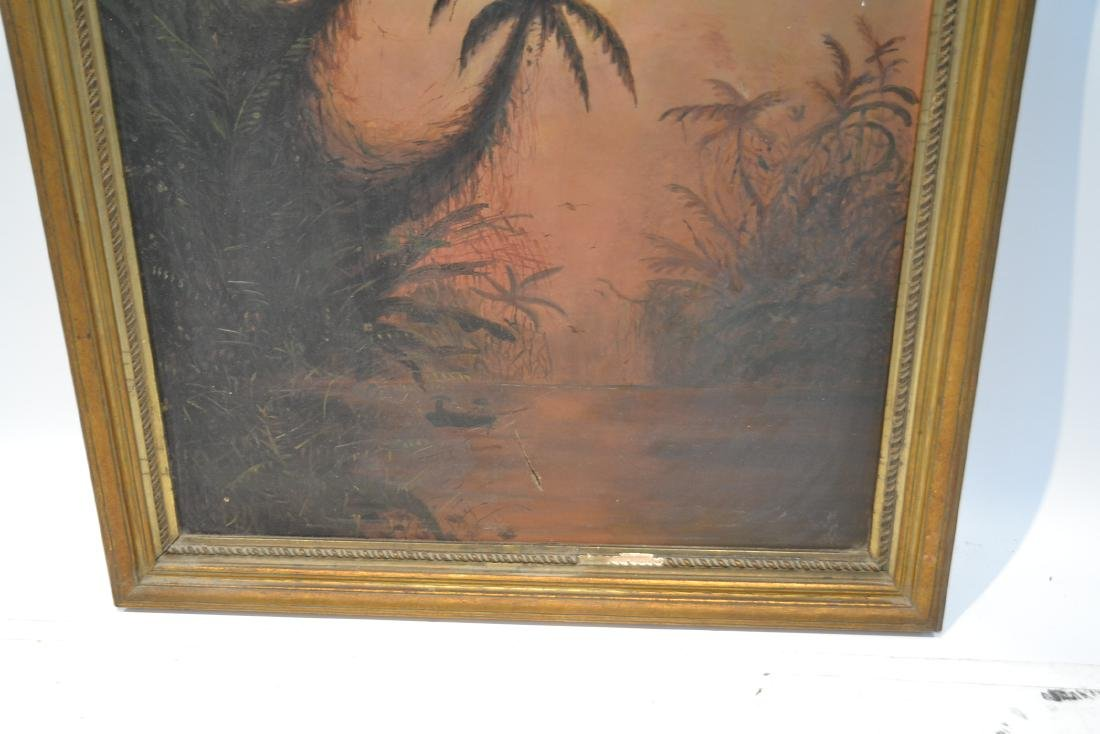 OIL ON CANVAS CARIBBEAN LANDSCAPE - 6