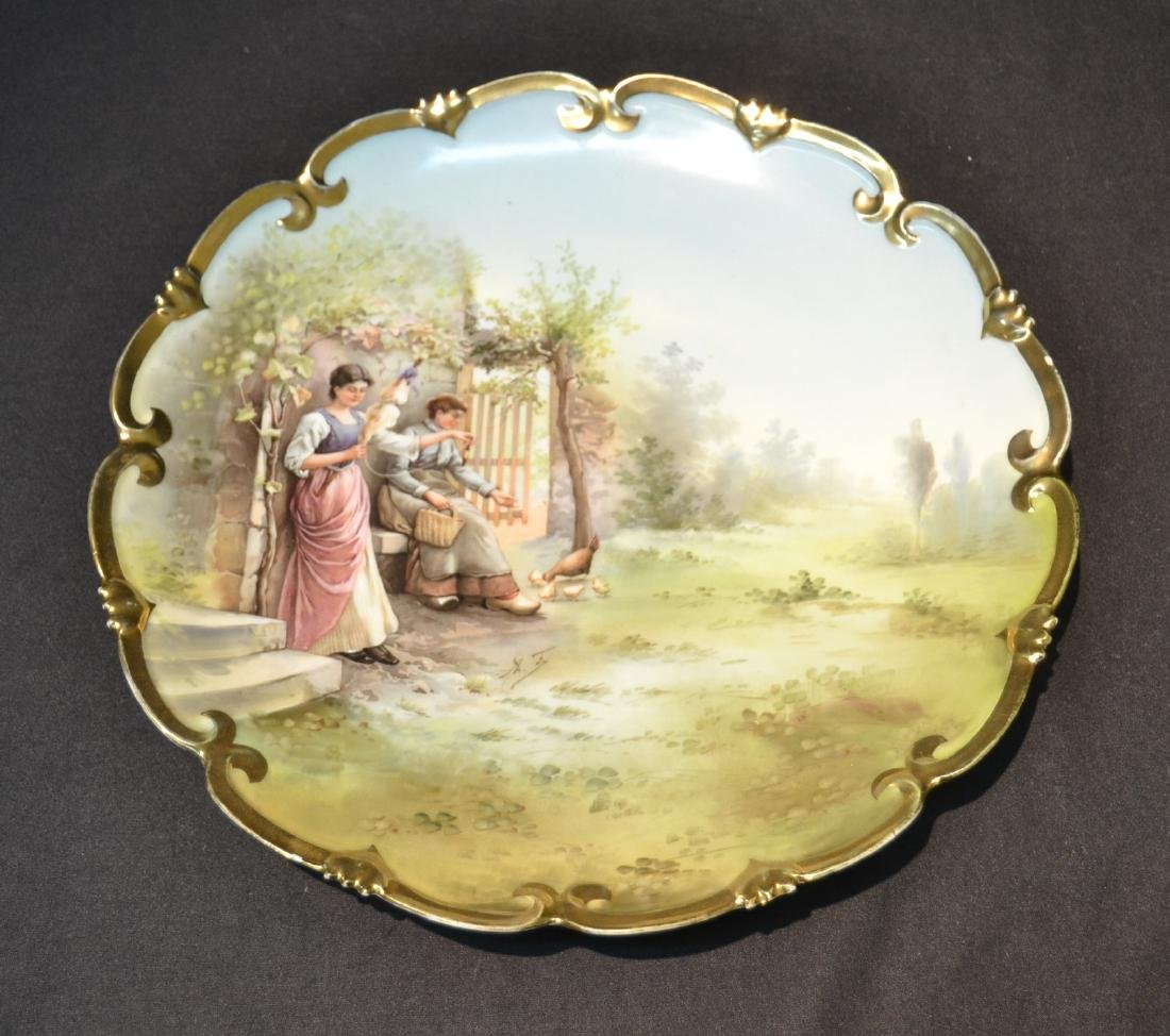 HAND PAINTED AUSTRIAN PORCELAIN CHARGER