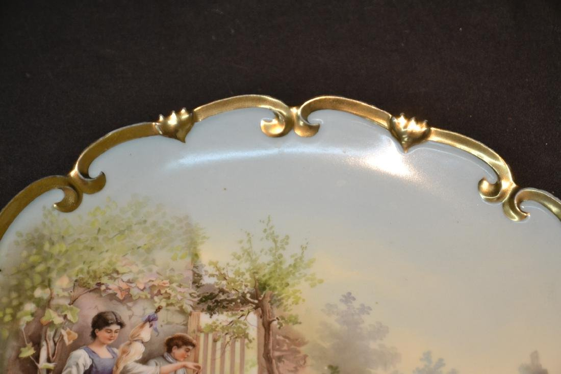 HAND PAINTED AUSTRIAN PORCELAIN CHARGER - 4