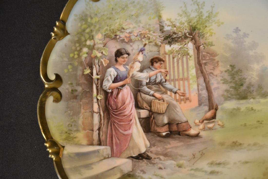 HAND PAINTED AUSTRIAN PORCELAIN CHARGER - 5