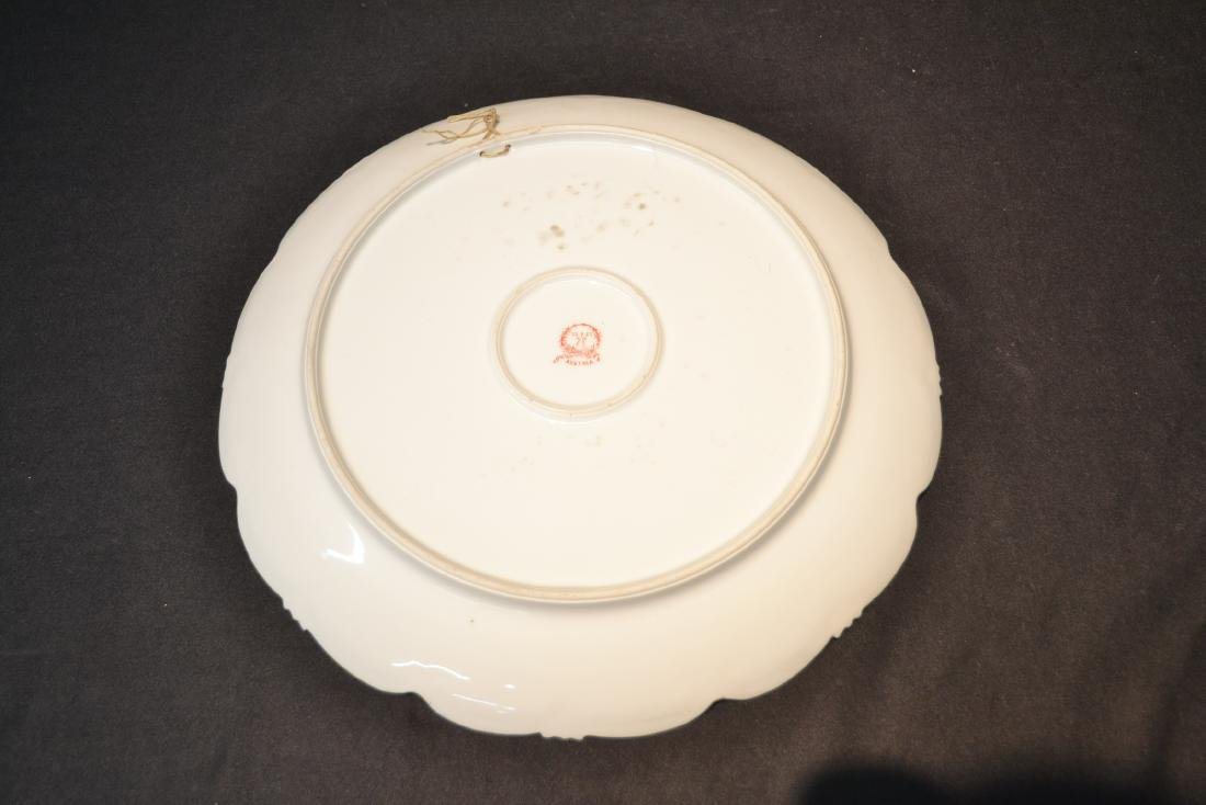 HAND PAINTED AUSTRIAN PORCELAIN CHARGER - 6