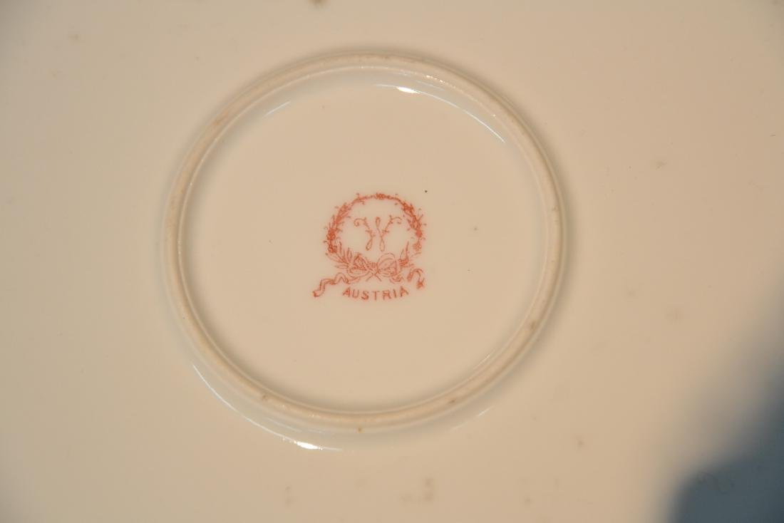 HAND PAINTED AUSTRIAN PORCELAIN CHARGER - 7