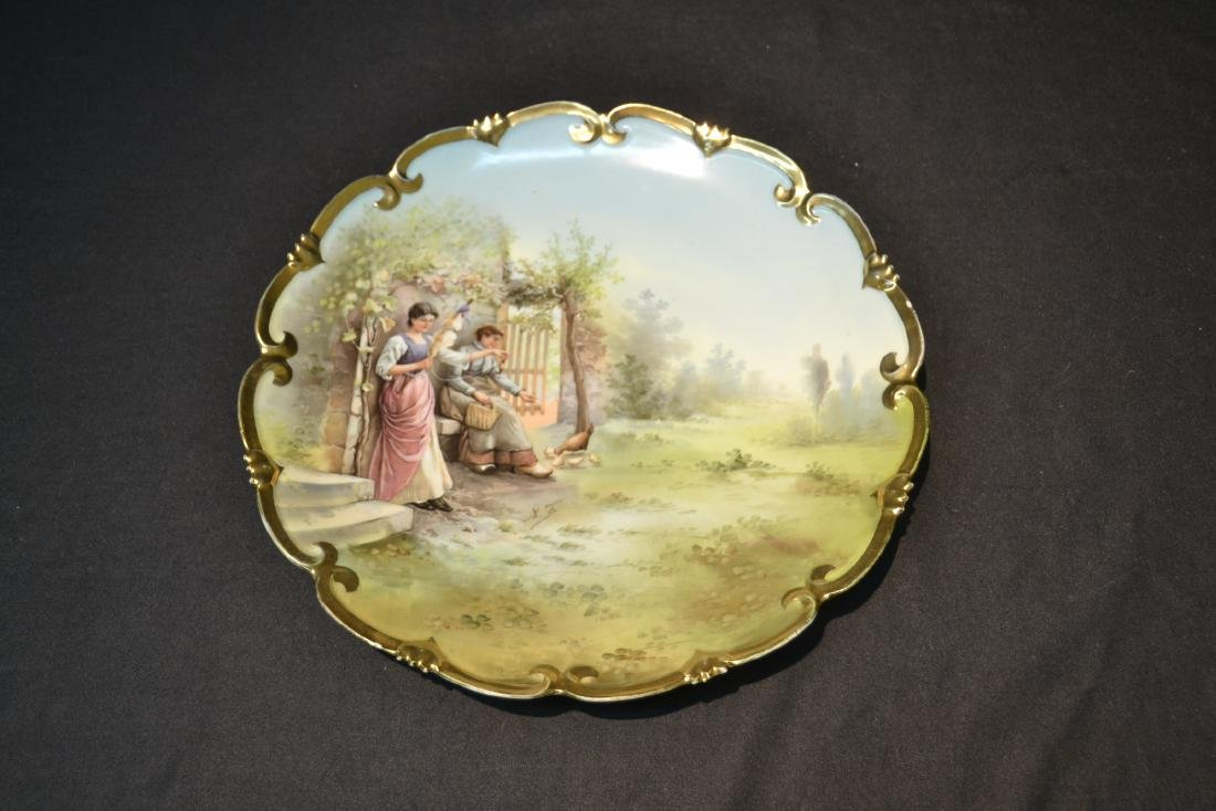 HAND PAINTED AUSTRIAN PORCELAIN CHARGER - 8