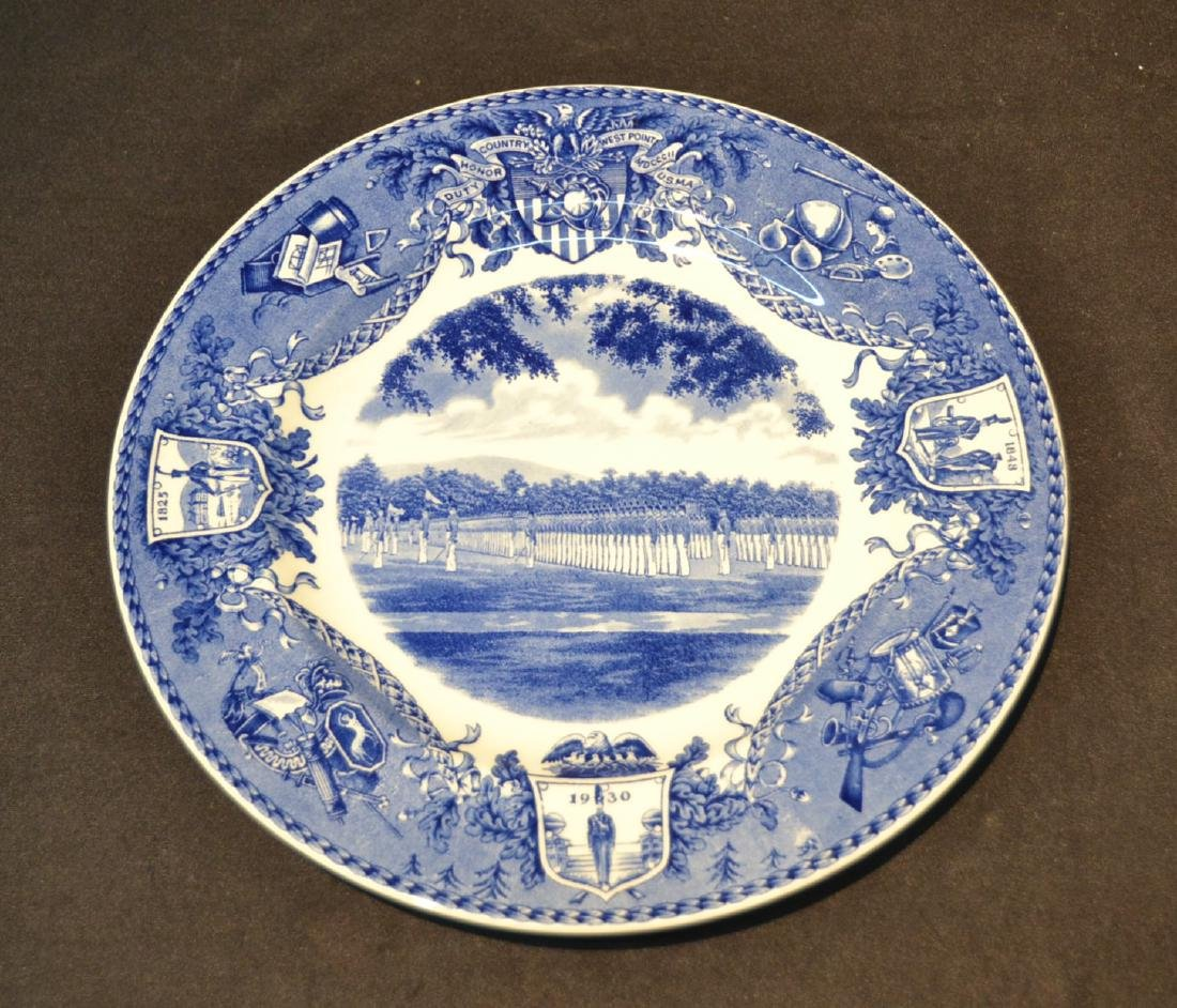 WEDGWOOD WEST POINT DRESS PARADE PLATE ; 1933