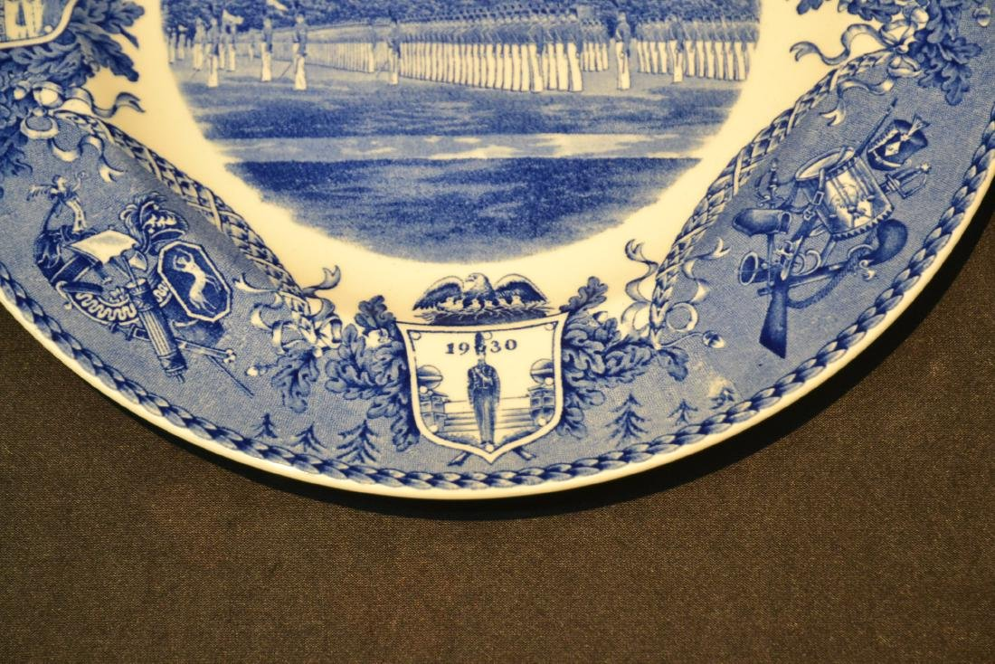 WEDGWOOD WEST POINT DRESS PARADE PLATE ; 1933 - 4