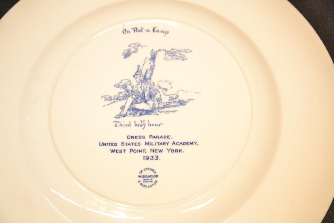 WEDGWOOD WEST POINT DRESS PARADE PLATE ; 1933 - 7