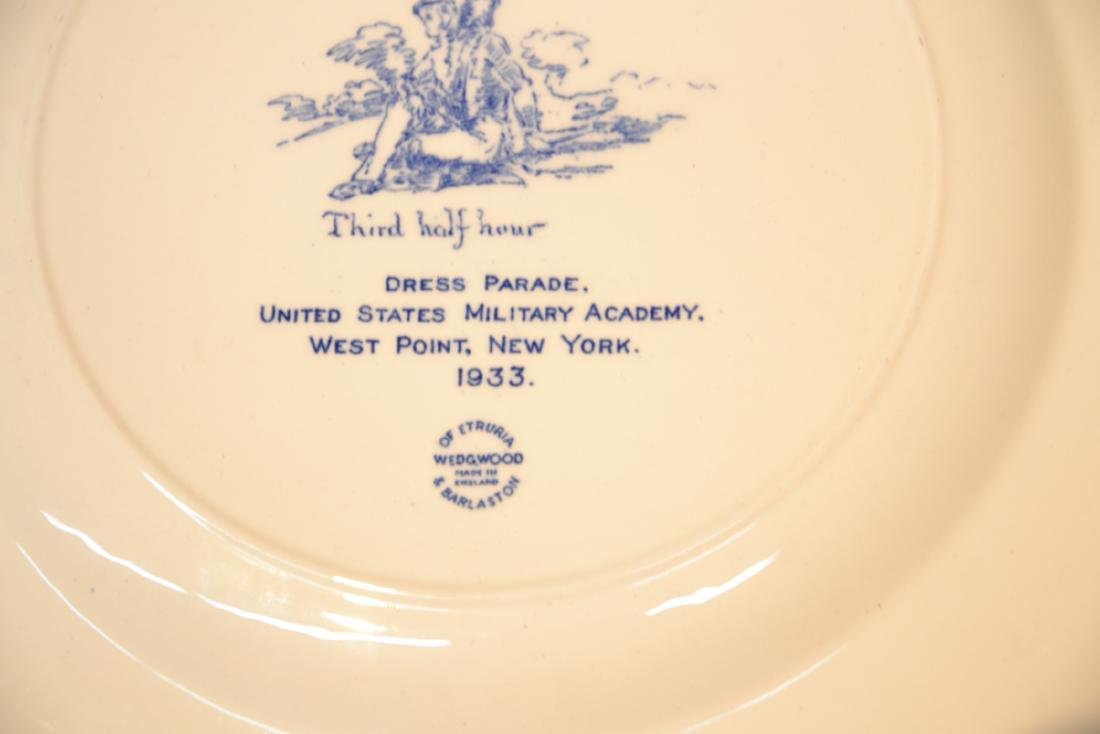 WEDGWOOD WEST POINT DRESS PARADE PLATE ; 1933 - 8