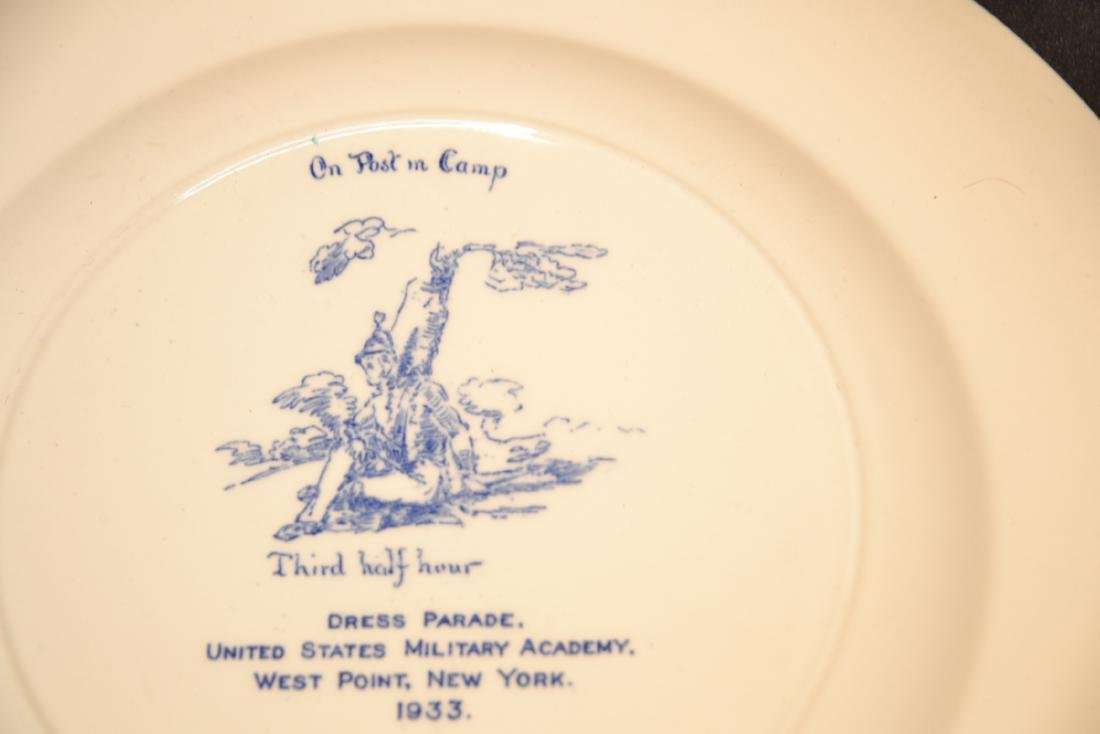 WEDGWOOD WEST POINT DRESS PARADE PLATE ; 1933 - 9