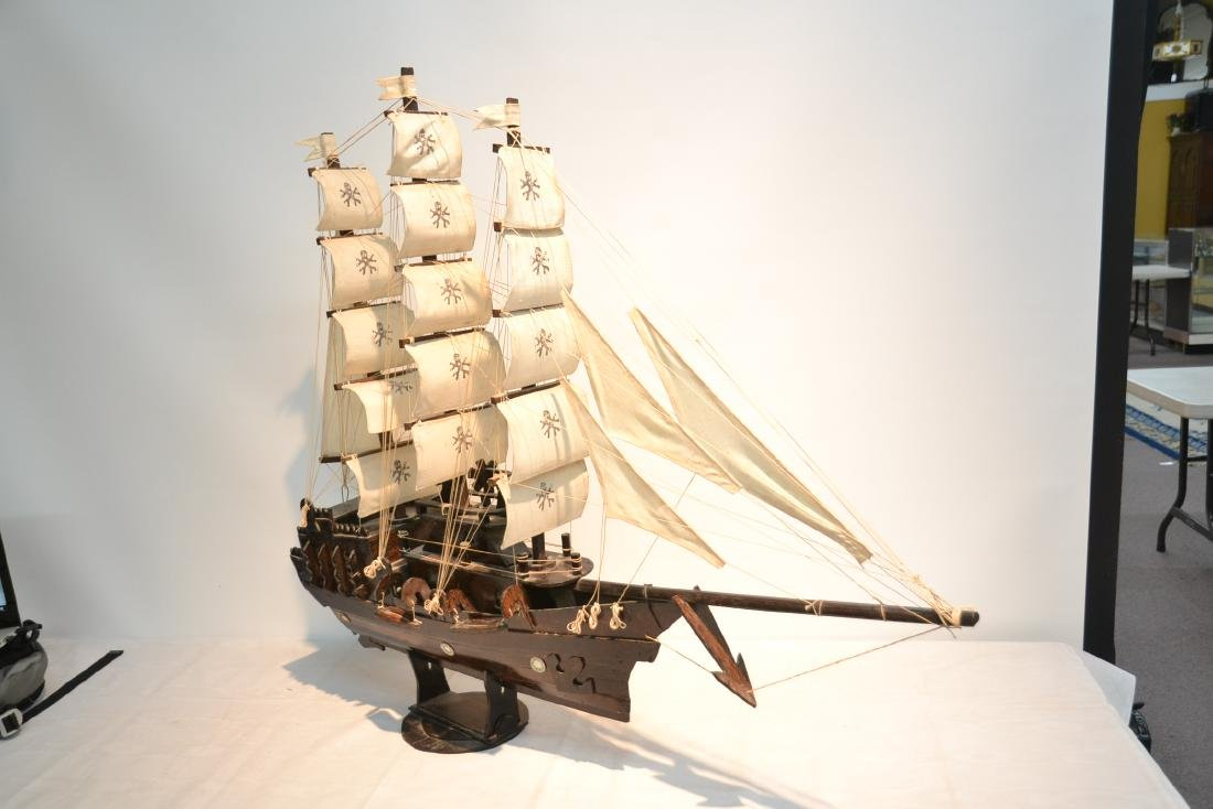 "WOODEN PIRATE SHIP MODEL - 41"" x 5"" x 35"" - 2"