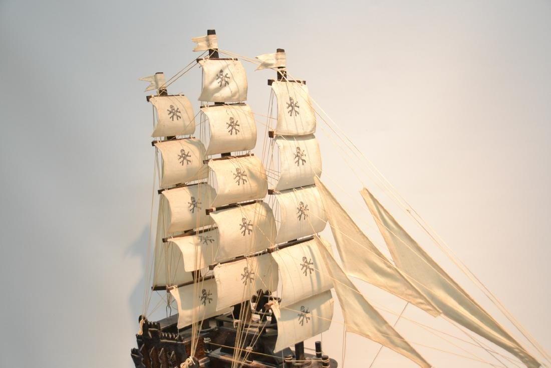 "WOODEN PIRATE SHIP MODEL - 41"" x 5"" x 35"" - 3"