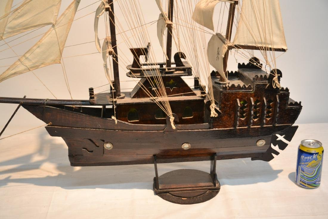 "WOODEN PIRATE SHIP MODEL - 41"" x 5"" x 35"" - 5"
