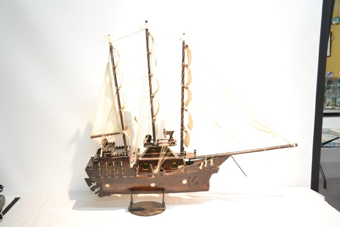 "WOODEN PIRATE SHIP MODEL - 41"" x 5"" x 35"" - 6"