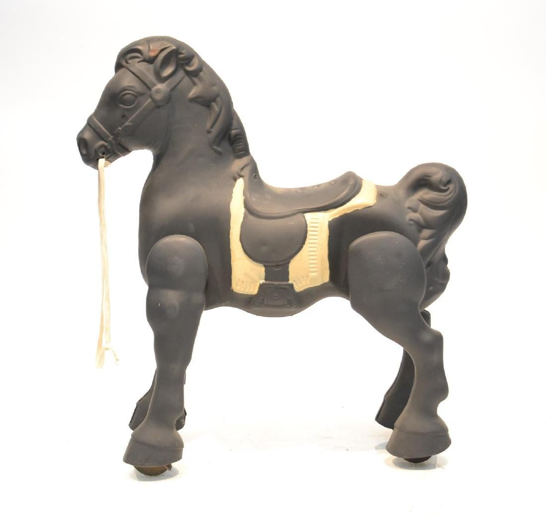 VINTAGE ENGLISH MOBO PRESSED STEEL HOBBY HORSE