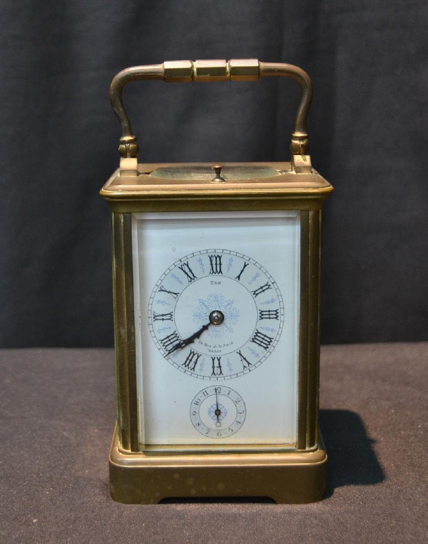 CAM BRONZE & CRYSTAL CARRIAGE REPEATER CLOCK