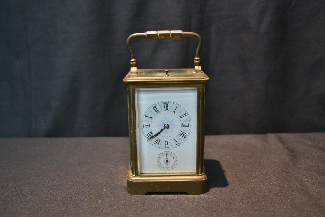 CAM BRONZE & CRYSTAL CARRIAGE REPEATER CLOCK - 2