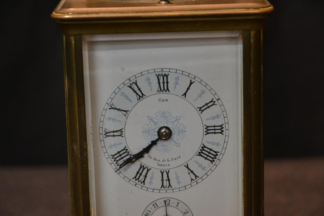 CAM BRONZE & CRYSTAL CARRIAGE REPEATER CLOCK - 3