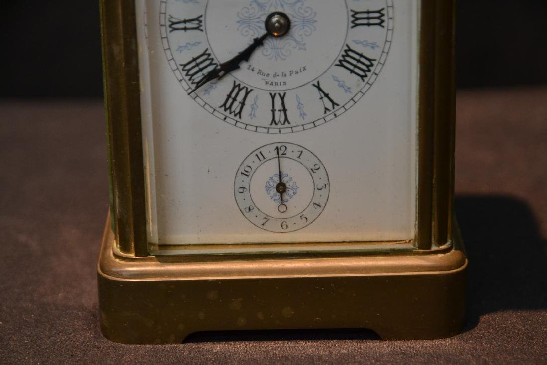 CAM BRONZE & CRYSTAL CARRIAGE REPEATER CLOCK - 4