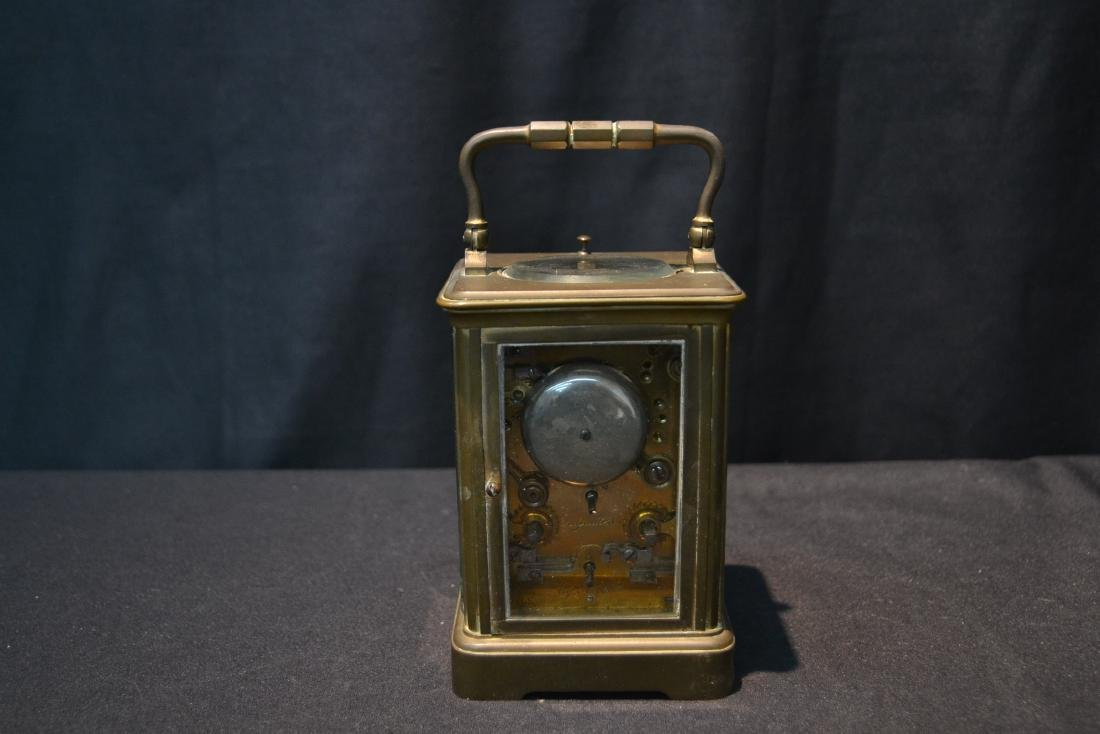 CAM BRONZE & CRYSTAL CARRIAGE REPEATER CLOCK - 6