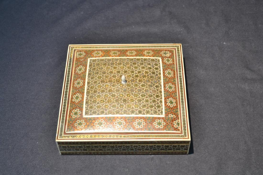 PERSIAN KHATAM BONE INLAID MICRO MOSAIC BOX - 3