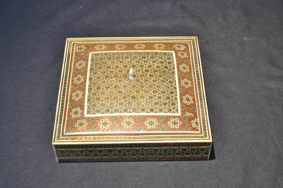PERSIAN KHATAM BONE INLAID MICRO MOSAIC BOX - 6