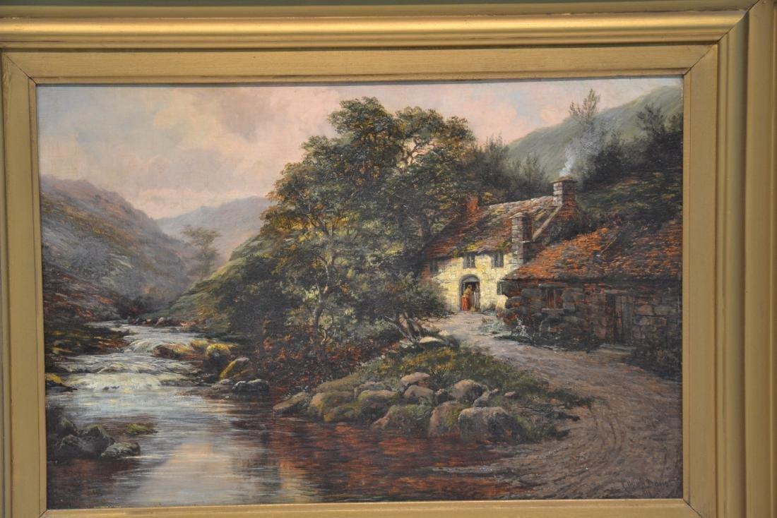 ARTHUR H. DAVIS (BRITISH, 19thC) OIL ON CANVAS - 3