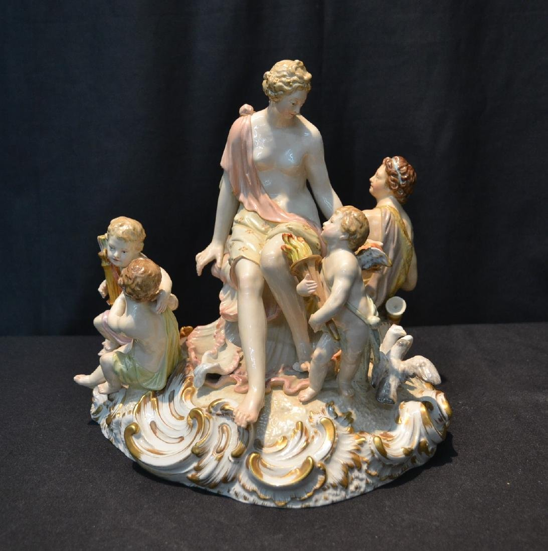 LARGE KPM MYTHOLOGICAL PORCELAIN GROUPING