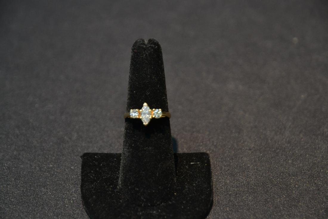 14kt DIAMOND RING WITH APPROXIMATELY 1ct MARQUIS - 2
