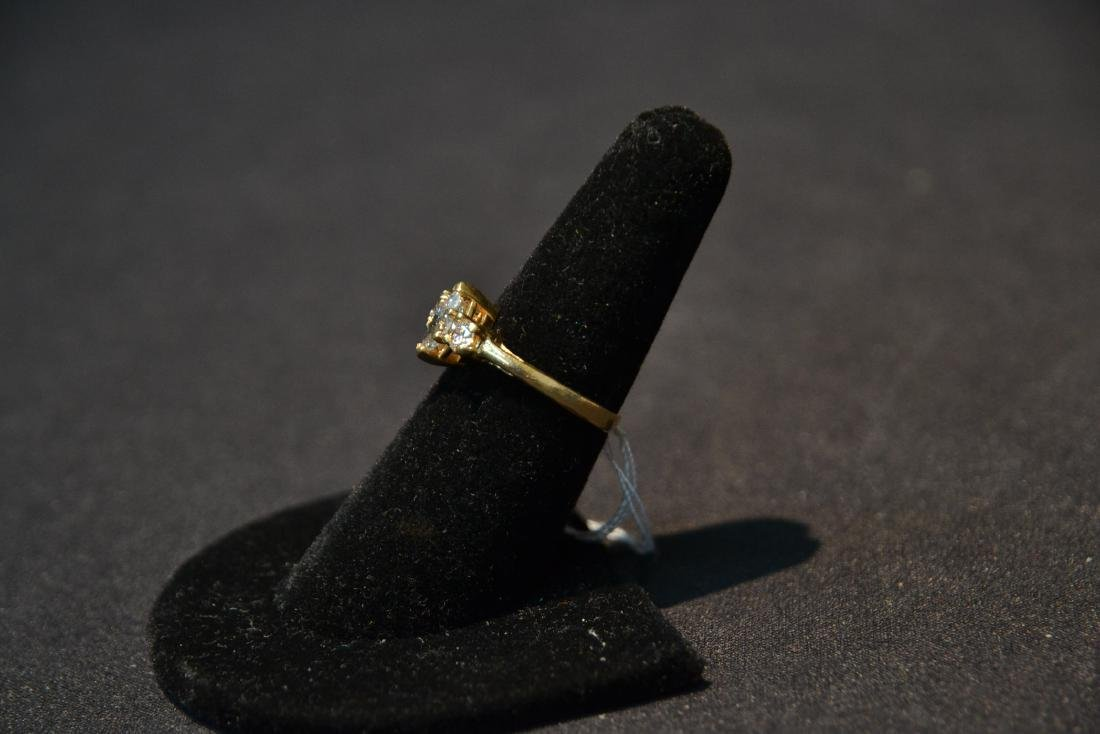 14kt DIAMOND RING WITH APPROXIMATELY 1ct MARQUIS - 4