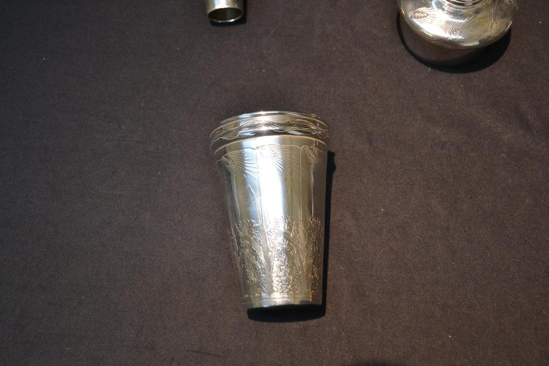 TIFFANY & Co. MAKERS STERLING COCKTAIL SHAKER - 9