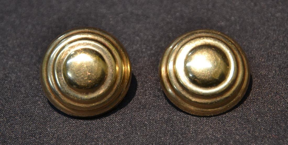 """(Pr) 14kt GOLD EARRINGS - 9.8grams ; 1"""" LONG"""