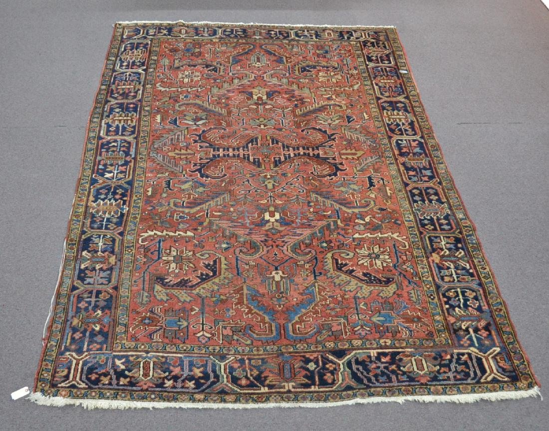 "ANTIQUE HERIZ RUG - 7' 3"" x 10' 3"""