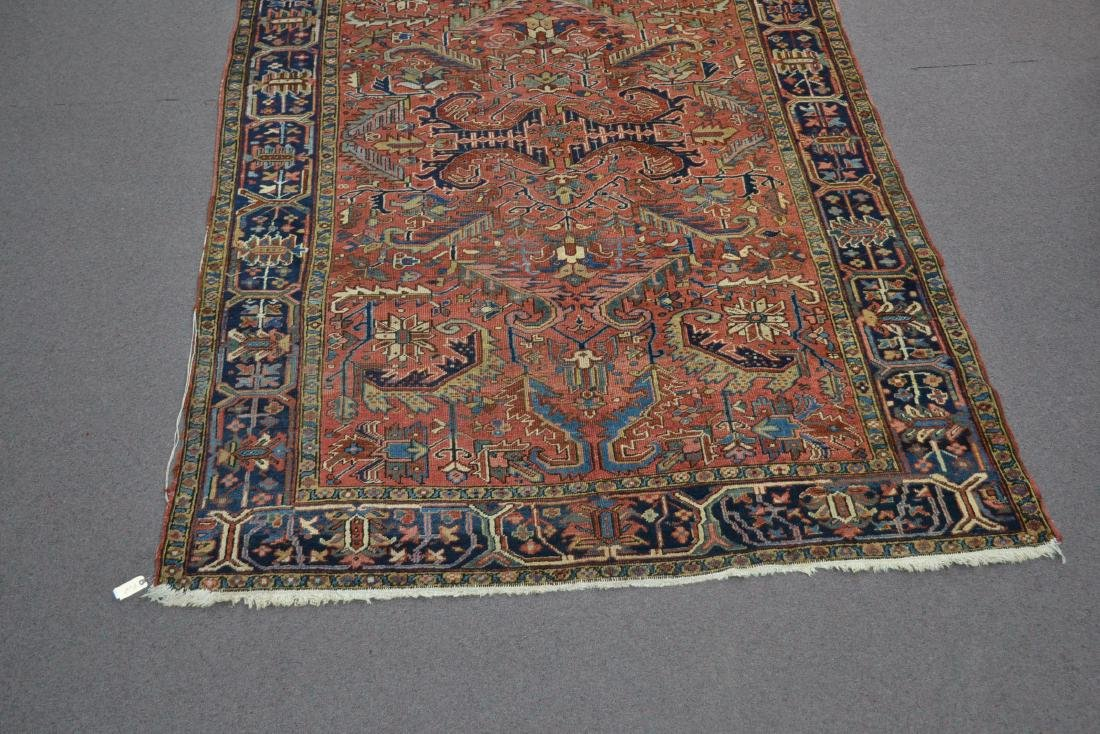"ANTIQUE HERIZ RUG - 7' 3"" x 10' 3"" - 3"