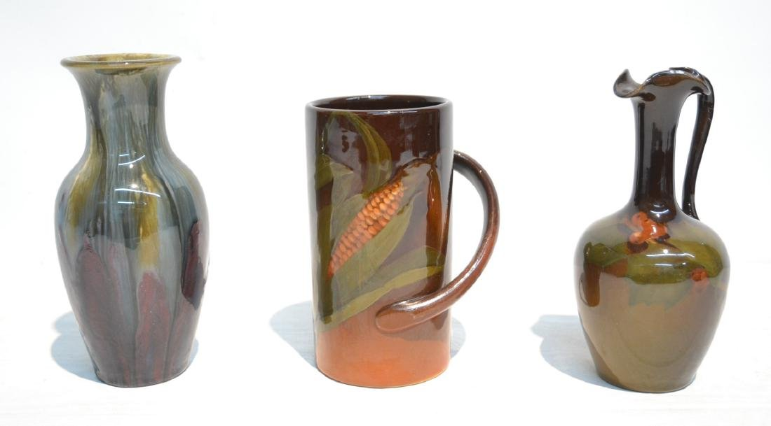 (3)pc's OF ROOKWOOD POTTERY TO INCLUDE