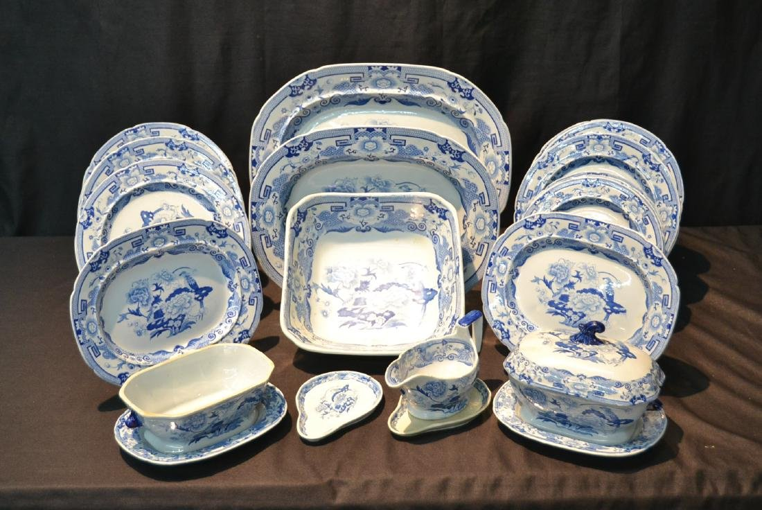 ASSORTED CHINESE BLUE & WHITE CHINA SERVICE