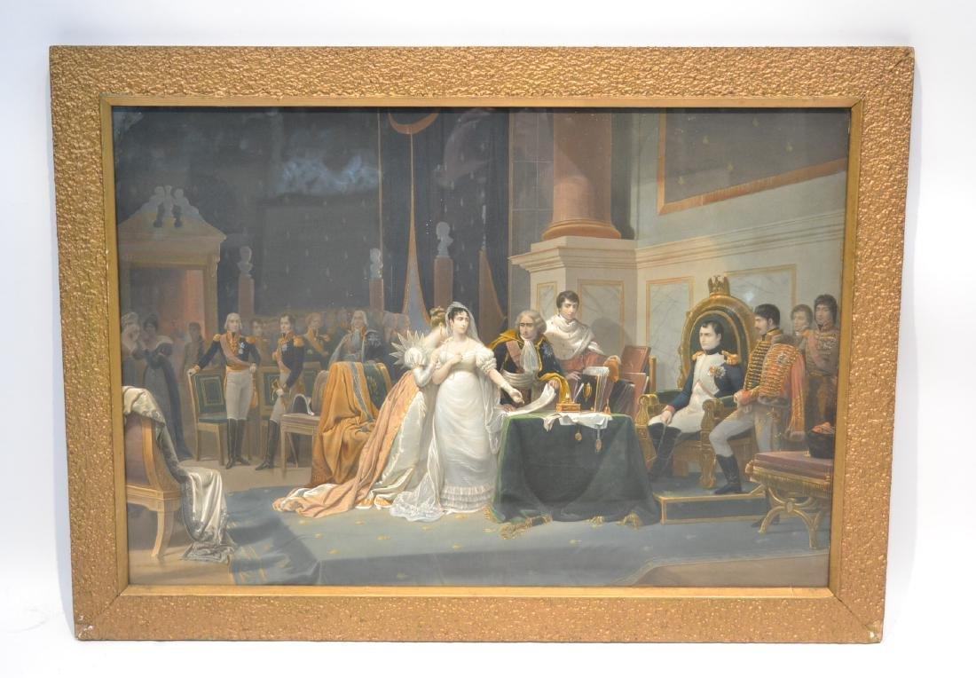 NAPOLEON & JOSEPHINE CORONATION CHROMOLITH
