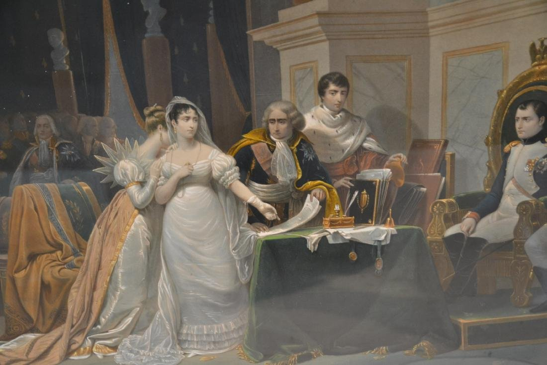NAPOLEON & JOSEPHINE CORONATION CHROMOLITH - 9