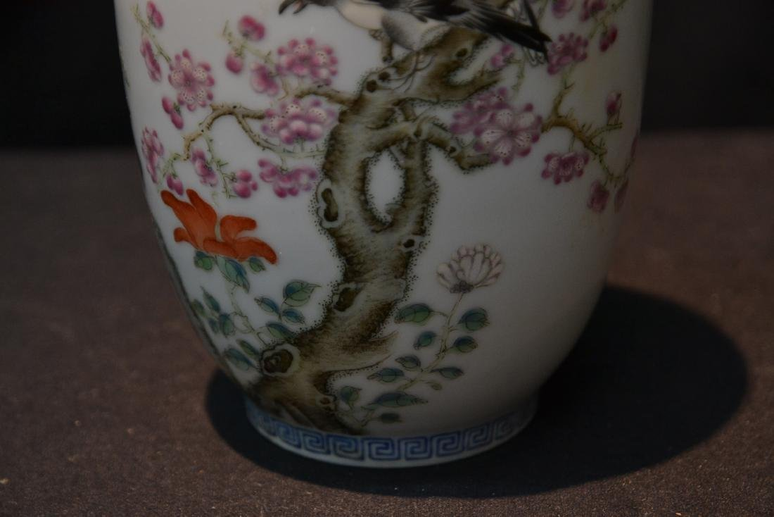 CHINESE PORCELAIN VASE WITH - 4